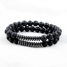 Black Onyx,Matte Onyx,Wood Braclets Buddha Bracelets Bangles Natural Stone Bracelets For Women Men Yoga Jewelry