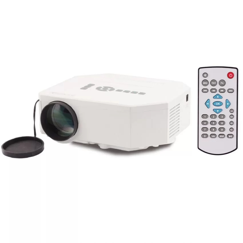 Unic UC30 640*480 LED HD Support  Multimedia Home Mini Projector (White)with SD/AV/VGA/HDMI/USB/TV<br><br>Aliexpress