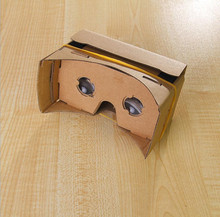 500X DIY Google Cardboard VR 3D VR Glasses Virtual Reality Goggles paper box for mobilephone(China)