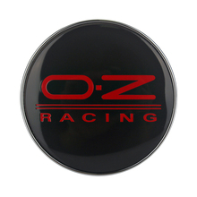YANF 4PCS 60MM Black Car Rim Stickers Car Wheel Center Hub Caps Wheel Hub Cover Logo Rim Emblem for OZ Racing(China)