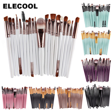 ELECOOL Professional 20pcs Eye Makeup Brushes Set Eyeshadow Eyebrow Eyeliner Lip Brushes Cosmetic Brush Tool for Women 10 Colors