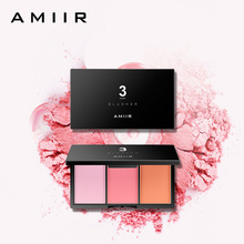 AMIIR Brand Makeup Baked Cheek Blush Palette Colorete Sleek Shimmer Cosmetics Blusher Bronzer Powder 3 Colors Natural Face Blush