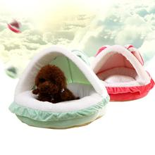 1pc S M Soft Pet Nest Dog House Fluffy Cute Cartoon Rabbit Ear Pet Kennel Pet cat House Home Decoration Gift s2(China)
