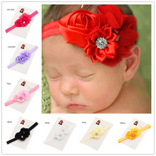 36pcs Baptism Gift Cheap headband Hair bows Hair flower headband Newborn Hair bows Elastic Hair band Fancy Headwear(China)