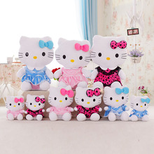 1 piece 50cm High Quality Pink Blue Rose-red Hello Kitty Plush Stuffed Doll Kid Toys Valentine's Day Gift Free Shipping
