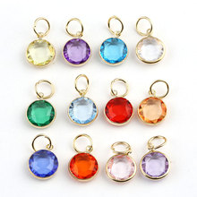 Christmas Deals 120pcs/lot 12 Colors Assorted 12mm Birthstone Charm Pendant For Glass Locket&Bracelets Accessories(China)