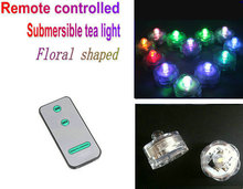 240pcs Submersible Led tea light w/remote controller Waterproof tealight Wedding Party floral Vase candle table centerpiece home