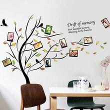 Fantastisch DIY Familie Fotorahmen Baum Wandaufkleber Wohnkultur Wohnzimmer  Schlafzimmer Wandtattoos Poster Home Dekoration Tapete(China)