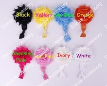 Shabby Flower Elastic Hair Tie - The Perfect Pony Tail Holder 120pcs