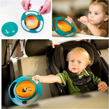 Baby Accesories Infant Baby Feeding Toy Bowl Dishes Kids Boy Girl Spill Proof Universal Rotate Technology Funny Gift
