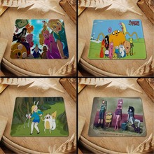 MaiYaCa Hot 2016 Adventure Time Animated mouse pad with edge locking for internet game and office use(China)