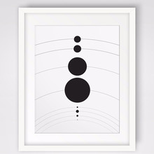 NEW Solar System Planet Art Mural Modern Printable Black White Abstract Wall Art Picture Canvas Art Poster For Kids Home Decor(China)