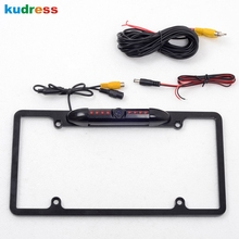 For US American Car Number Plate Frame Universal HD Rearview Camera Night Vision Waterproof Black Rear View Parking Assitance