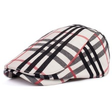 Free shipping 2015 spring and summer fashion trend in British fashion color bar big grid beret Outdoor personality cap