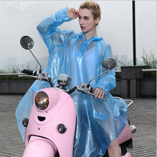 Transparent Unisex Long Rain Poncho Waterproof Hooded Motocycle Rain Coat Women Fashion Rain Cape Ponchos Bicycle Raincoat