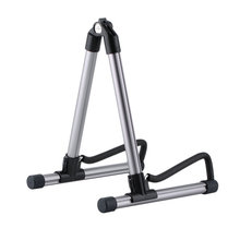 Guitar Stand Universal Folding Electric Acoustic Bass Guitar Stand A Frame Floor Rack Holder Silver Gray free shipping