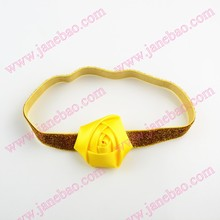 free shipping 30pcs Rose flower headbands toddles headband Rolled Rose On glitter Headbands(China)