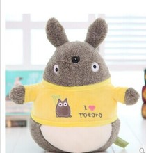 TV anime cartoon 25cm dressed Totoro toy lovely i love totoro doll gift w4780