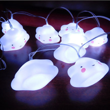 2017 Hot Sale Cloud Nightlights Super Cute White Pink Blue Luminaria Led String Lamps For Baby Bedroom Party Holiday Decor Light