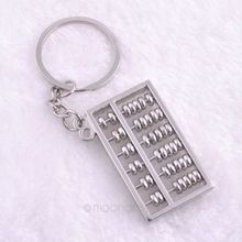3 Styles New Arrive Unique Creative Compass Rudder Helm Abacus Key Chain, Glossy Alloy Keychain Keyrings Best Gifts