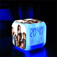 1 Piece DIY Customize Family Baby Photos LED Digital Alarm Clock 7 Colors Changing Clock Great Kids Christmas Birthday Gift