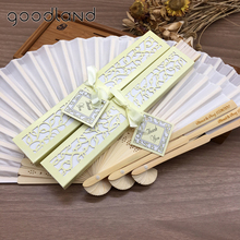 Hot Sale Free Shipping 10pcs/lot Personalized /Customized Printing Text 21cm Bamboo Spun Silk Hand Fan Wedding Invitation