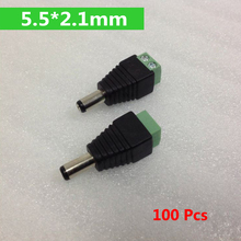 100Pcs Mini Coax CAT5 Male BNC Connector To Camera CCTV BNC Video Balun Connector Adapter(China)