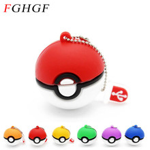 FGHGF Pokemon usb flash drive Pocket Monster Poke Ball Pikachu pendrive 2GB 4GB 8GB 16GB 32GB u disk memory stick fashion gift