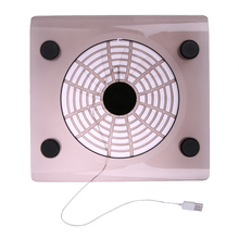 High Quality Laptop USB Air Cooling Fan LED Light Cooler Pad Blue LED Large Single Cooling Fans for PC Notebook