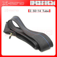 Heavy duty dirt bike inner tube 60/100-14 2.50-14 Cheap tyre tube for 14 inch pit bike front wheel Off road motocycle rim(China)
