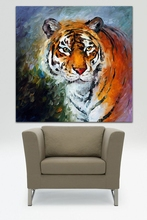 Modern Tiger Oil painting 100% Handpainted Tiger Canvas Oil Ppainting Unframed Animal Palette Knife Wall Painting Home Decor