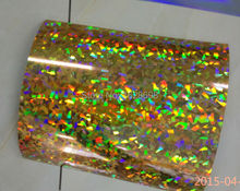 CDH-18 crystal gold hologram heat transfer film for garment logo or number free shipping