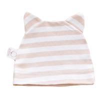 S M L 3 Sizes Boy/Girl Newborn Children Hat , Infant Baby Hat ,Cute Cat Striped Soft Cotton Cap/Headwear HA012(China)