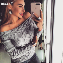 Knitted Sweater Women Sexy Off Shoulder Long Sleeve