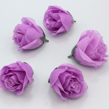 Silk Rose Flowers Artificial Flower 7 Colors to Pick up Ivory Red Yellow Purple Blue Wedding Party DIY Material Decoration