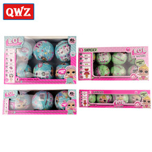 QWZ Series 1/2 With Box LOL Surprise Dolls Dress Up Toys Funny Dolls Surprise Eggs LOL Dolls Kids Toy For Girls Christmas Gift(China)
