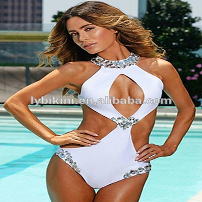 2017 VENUS VACATION  rhinestone beachwear brand swimsuit diamond bandeau swimwear biquini women sexy swimsuit bikini VV20170093<br>