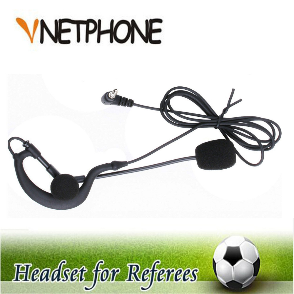 Referee Headset Earphone Helmet Earhook Football Coach Arbitration for And Monaural title=