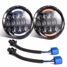 105W 7 inch Car Led Headlight 4x4 Off road Led HID H4 Hi/Lo Beam led Auto Headlight Kit for Jeep Wrangler JK CJ Motorcycle