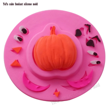 DIY Halloween Cake Decorating Pumpkin Shaped Fondant Sugar Art Tools DIY Cake Decorating Tools 3D Silicone Molded F0833