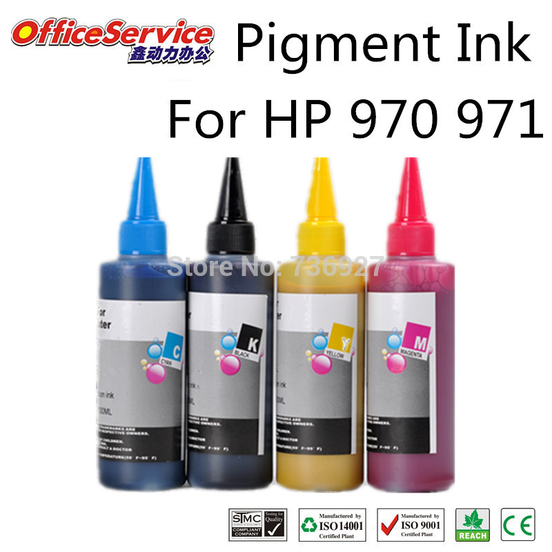 Top rated 4 Color  For hp Printer ink refills for HP970 971,Pigment Ink  For HP printer Pro X451dw/X551dw/X476dw/X576dw<br><br>Aliexpress