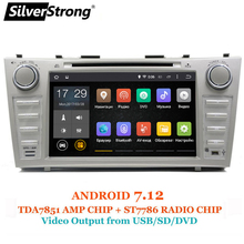 SilverStrong 1024*600 2Din Android7.12 2GB RAM Car DVD For TOYOTA CAMRY AURION v40 2007-11 auto radio with google play