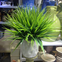 Green Imitation Plastic Artificial Grass Leaves Plant for Home Wedding Decoration Arrangement