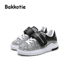 Bakkotie 2017 Spring Autumn Baby Fashion Child Glitter Slip Shoe Girl Casual Sports Boy Black Sneakers Kid Brand Trainer toddler(China)