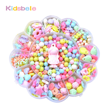 Kids Puzzle Toys DIY Necklace Making Kit Colorful Handmade String Beads Training Creative Ability Birthday Gift For Girls