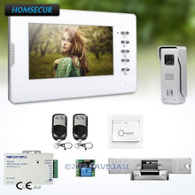 HOMSECUR 7inch Wired Video Intercom System Real-time Outdoor Monitoring With Strike Lock Included