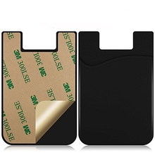 Business Credit Pocket Adhesive Fashion Women Men Cell Phone Holder ID Card Holder Slim Case sticker buy 50 pieces have discount(China)