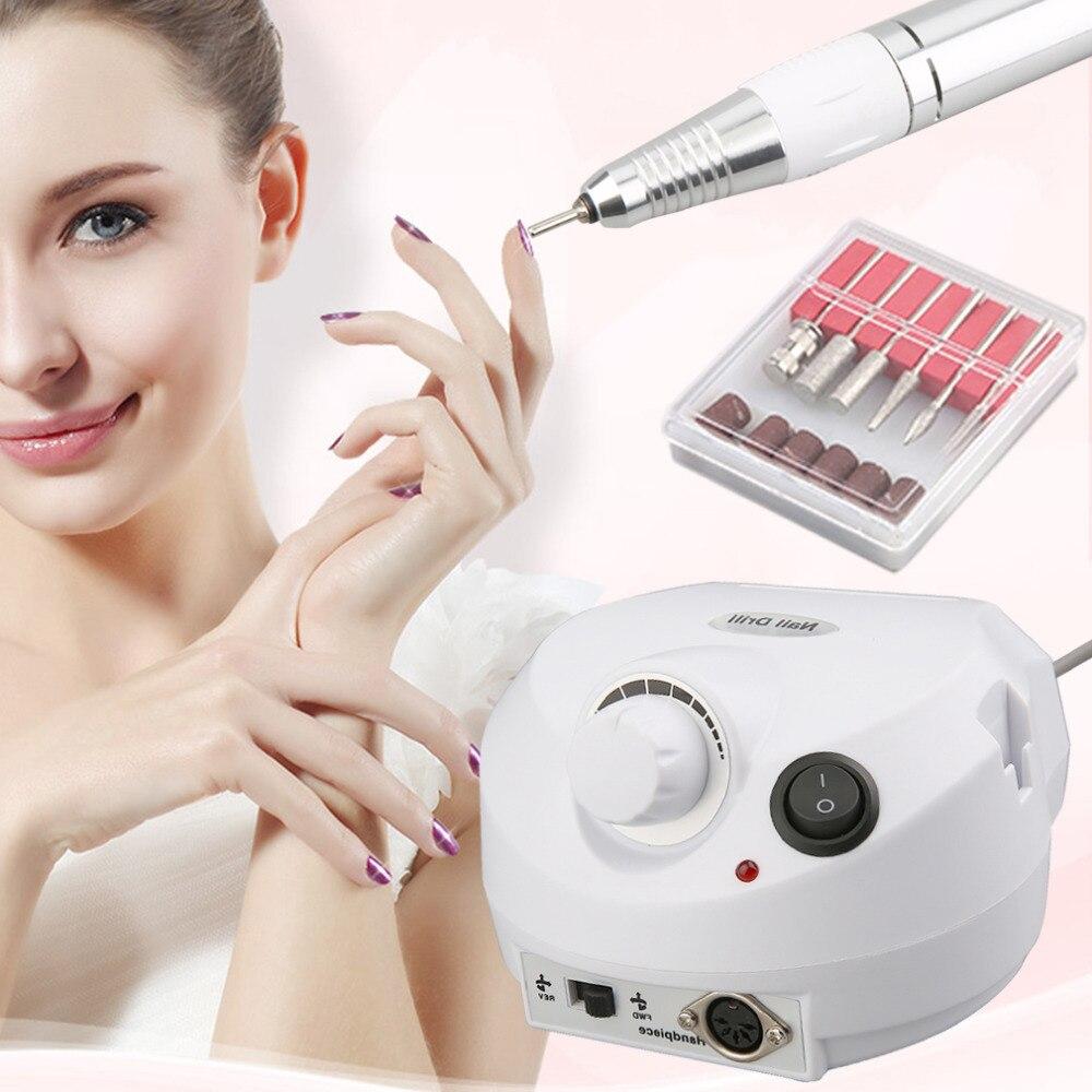 New Sale Professional Electric Professional Nail Drill File Manicure Kit 220V Nail Salon Nail Tool Nail Gel<br><br>Aliexpress