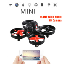 LiDiRC L10 2.4Ghz 0.3MP Wide Angle HD Camera RC Quadcopter Drone Wifi FPV RC Drone Altitude Hold One Key Return 3D Flips Rolls(China)