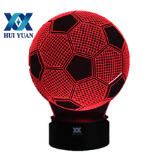 Soccer Ball 3D Night Light RGB Changeable Mood Lamp LED Light DC 5V USB Decorative Table Lamp Baby Sleeping Nightlight(China)